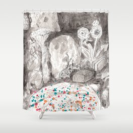The Magical Pond Shower Curtain