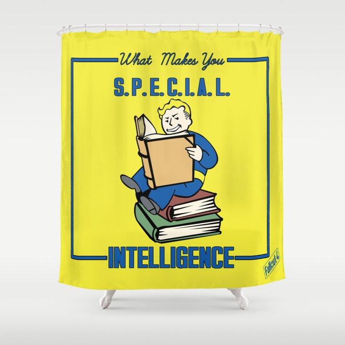 Intelligence S.P.E.C.I.A.L. Fallout 4 Shower Curtain