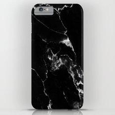 Black Marble I Slim Case iPhone 6 Plus