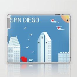 San Diego, California - Skyline Illustration by Loose Petals Laptop & iPad Skin