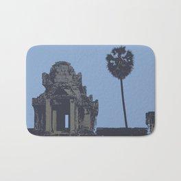 Crypt at Angkor Wat with Palm Tree Bath Mat