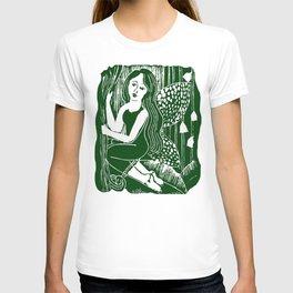 Forest Fairy Printmaking Art T-shirt
