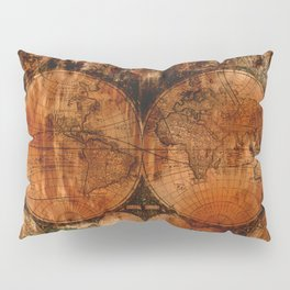Rustic Old World Map Pillow Sham