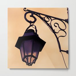 Retro street light Metal Print