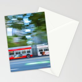 Bus In Motion Stationery Cards