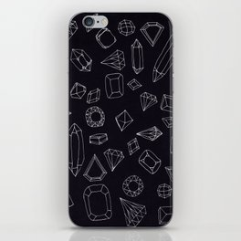 doodle crystals iPhone Skin