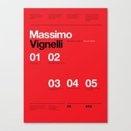 Massimo Forever 01 Canvas Print