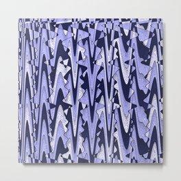 Abstract Iceberg Pattern Metal Print