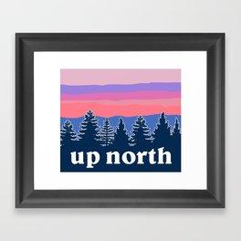 up north, pink hues Framed Art Print