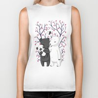 family Biker Tanks featuring Bear Family by Freeminds