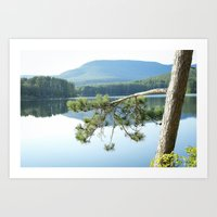 woodstock Art Prints featuring Woodstock, NY by Claire Cali