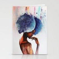 waterfall Stationery Cards featuring Waterfall  by Sebastian Wandl