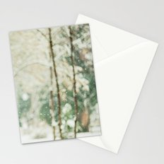 Falling Snow Stationery Cards