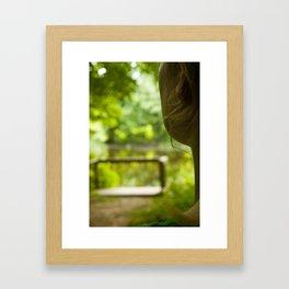 Orange Side Framed Art Print