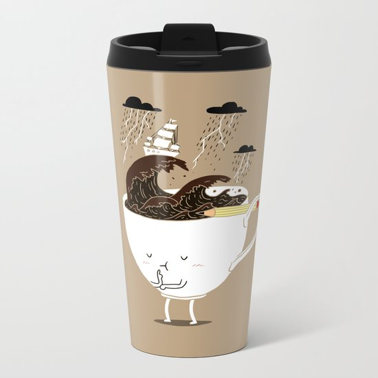 Brainstorming Coffee Metal Travel Mug