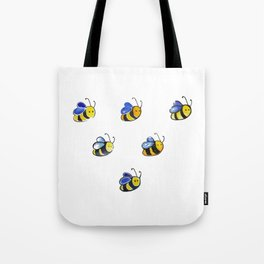Cute little watercolor bees by annmariescreations Tote Bag