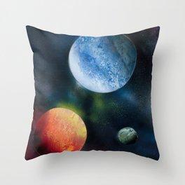 Celestial Triad Throw Pillow