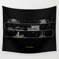 seoul Wall Tapestries featuring Seoul cityscape Korea Republic of graphics design by nanaminhae
