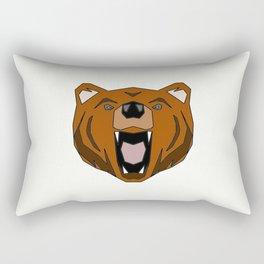 Geometric Bear - Abstract, Animal Design Rectangular Pillow