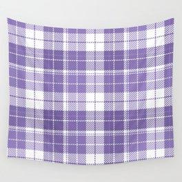 Ultra Violet Tartan Pattern Wall Tapestry