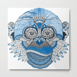 Monkey Mind Metal Print