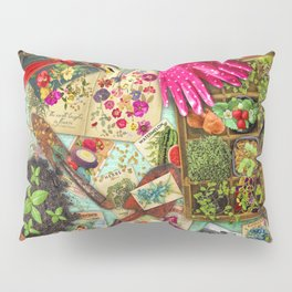 A Vintage Garden Pillow Sham