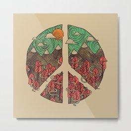 Peaceful Landscape Metal Print