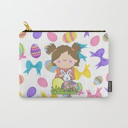 Easter Eggs Girl Carry-All Pouch