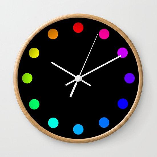 clock dots - color option black Wall Clock