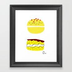 donut vs eclaire Framed Art Print