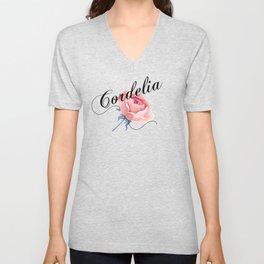 Cordelia, Cora Unisex V-Neck