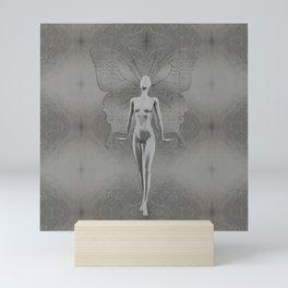 Silver Leaf Fairy Mini Art Print