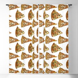 Spicy Meat Pizza Slice Polka Dot Pattern Blackout Curtain