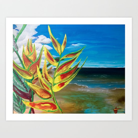 Heliconia Tropical Parrot Plant Take Me There Art Print