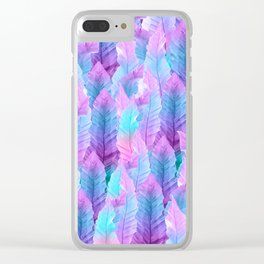Mermaid Colored Leaves Vibes #1 #decor #art #society6 Clear iPhone Case