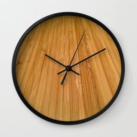 bamboo Wall Clocks featuring Bamboo by Olivier P.