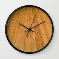 bamboo Wall Clocks featuring Bamboo by AEPhotos