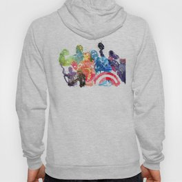 Iconic Comic Book Super Heroes ft. Iron Man  Hoody