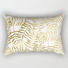Gold Leaves 2 Rectangular Pillow