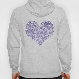 Purple Brocade Paisley Heart Hoody
