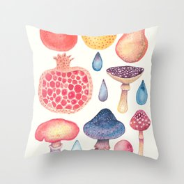 Fruits of the Woods Throw Pillow