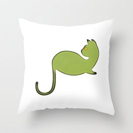 56 Cat Art Illustration Throw Pillow