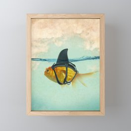 Brilliant DISGUISE - Goldfish with a Shark Fin Framed Mini Art Print