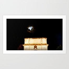 Dublin Moon Art Print