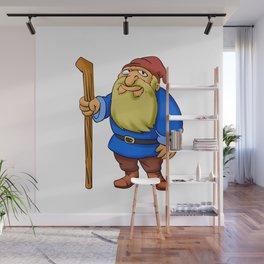 Cute Cartoon Garden Gnome Wall Mural