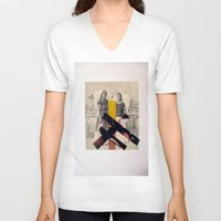 sisters V-neck T-shirts featuring Sisters by Mimi Rico
