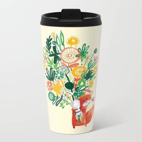 Flower Delivery Metal Travel Mug