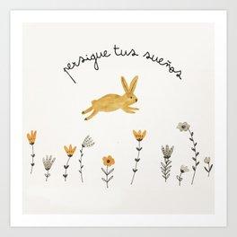 bunny dreams Art Print