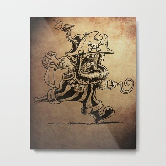 Steam powered Pirate Metal Print