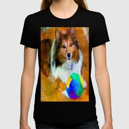 Sheltie with Ball T-shirt